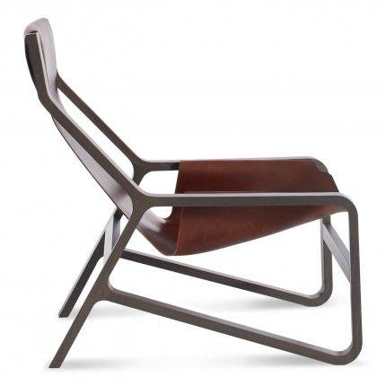 Blu Dot: toro modern lounge chair smoke-chocolate