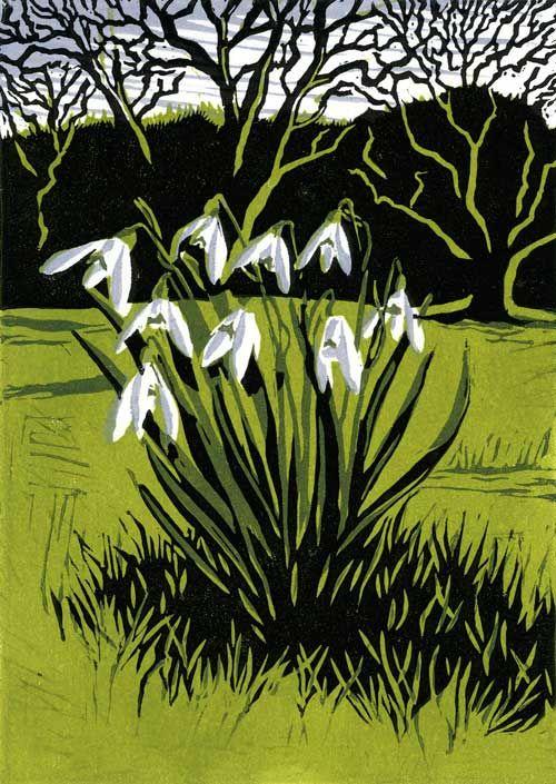 Snowdrops linocut 18 x 13 cm £95