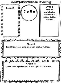 This would be a great center activity for math while teacher is doing small group instruction! It takes multiplication from just recalling facts to a deeper level of understanding.  LOVE! Multiplication of the Day for 3rd Grade!