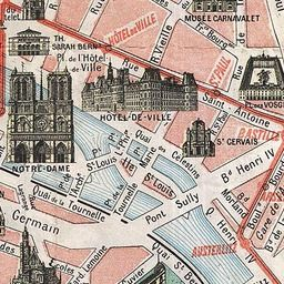 map of paris 1932 old maps of paris tourist