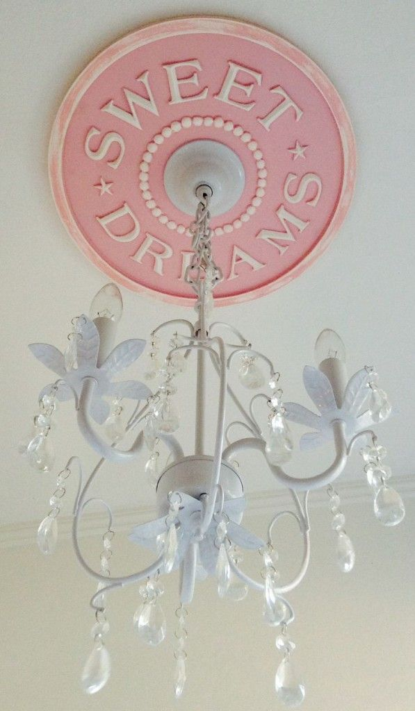 This ceiling medallion from @Marie Ricci Collection, Inc. is such a sweet touch to the nursery! #nursery #decor #sweetdreams