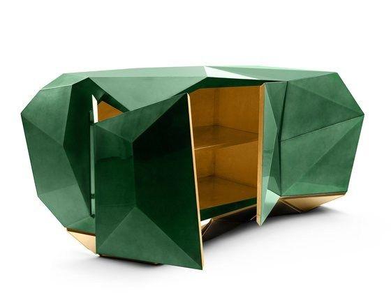 Тумба для гостиной DIAMOND EMERALD Коллекция Limited Edition by Boca do lobo