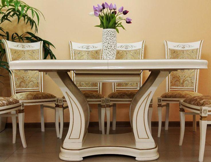 Овальный стол Витория исполнен в классическом стиле.  Такой стол прекрасно впишется в столовую с любым стилевым решением.  Данная модель помимо эстетических и практических качеств, отличается еще и прочностью. Стол прослужит Вам долгие годы, не требуя особого ухода.