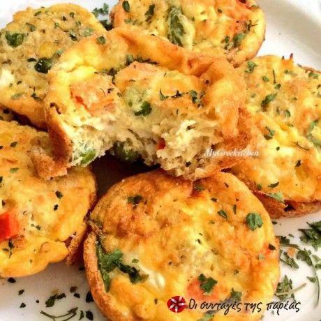 Νόστιμα και υγιεινά muffins με αυγά και λαχανικά