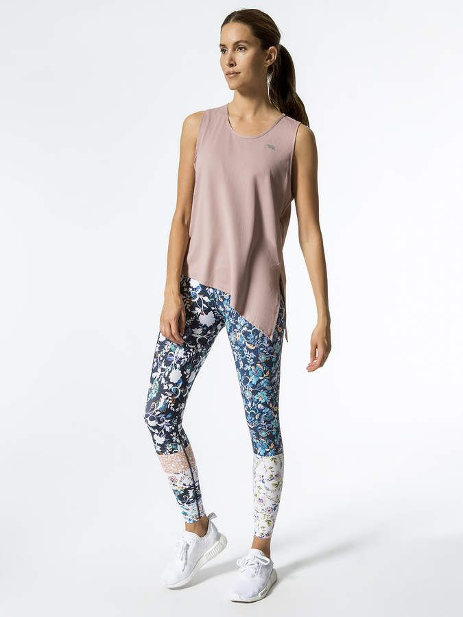 bbf7381d51f1f Workout outfits / Workout Clothes / Workout Inspiration / #shopstyle #style  #fashion #workout / Lotus Tie Side Workout Tank