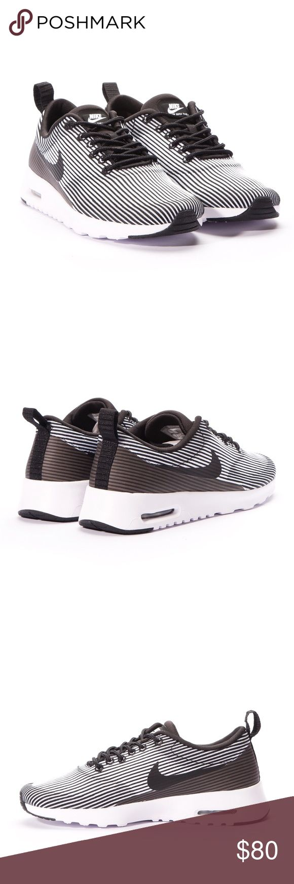 Nike Air Max Thea Black and white striped air max Thea. New without box. Nike Shoes Athletic Shoes