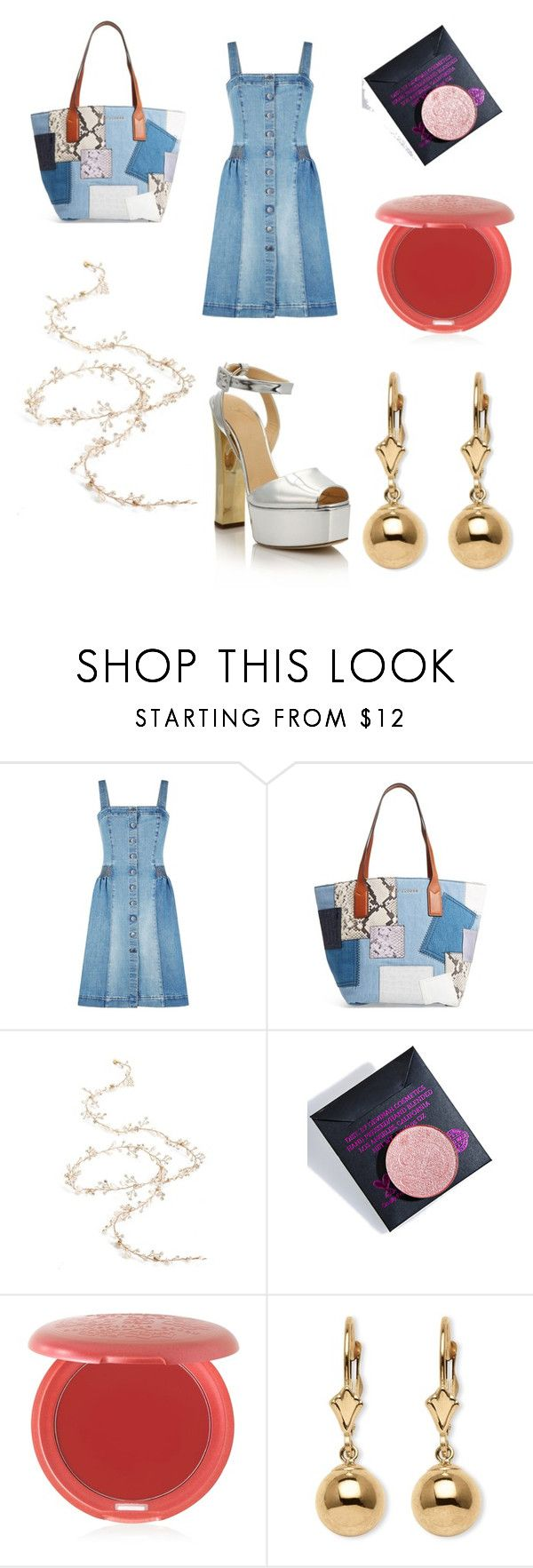 """Untitled #434"" by knmaem on Polyvore featuring STELLA McCARTNEY, Marc Jacobs, Twigs & Honey, Devinah Cosmetics, Stila, Palm Beach Jewelry and Giuseppe Zanotti"