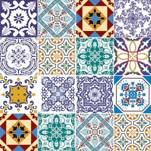 17 mejores im genes sobre laminas azulejos en pinterest for Mosaicos de azulejos en paredes