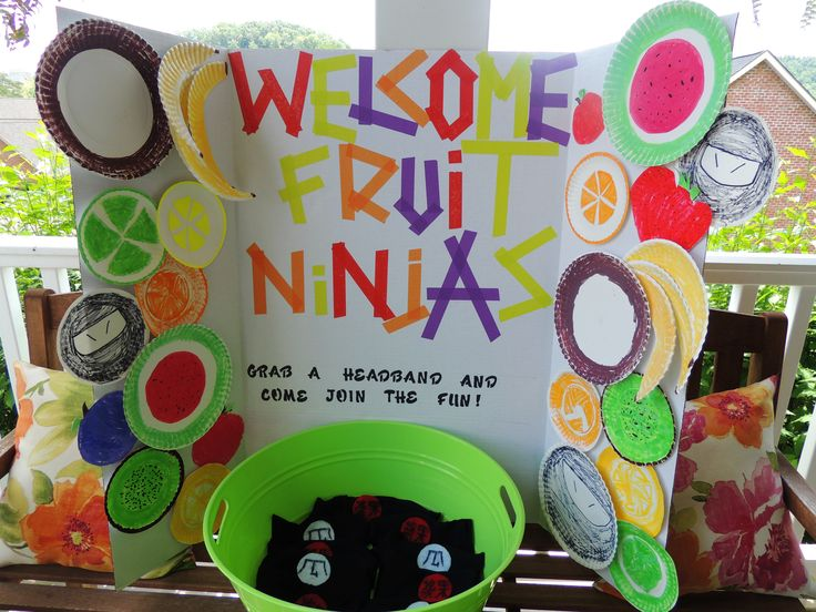 ... Fruit Ninja Party on Pinterest  My boys, Ninja birthday cake and