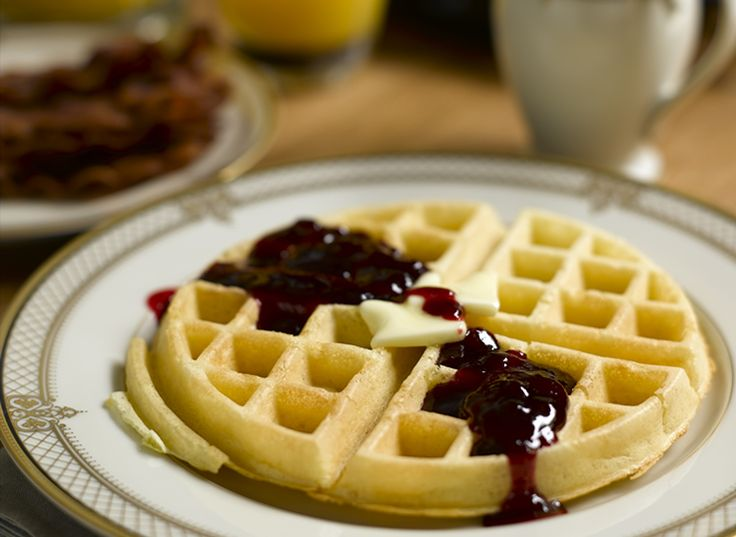 The Culinary Institute of America Food Enthusiasts :: Waffles with Hot Raspberry Syrup