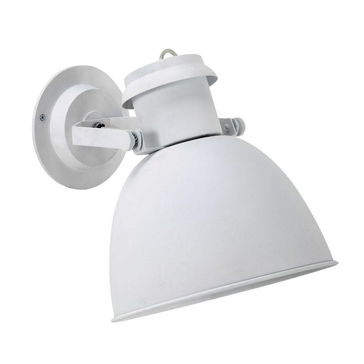 Applique spot orientable en métal blanche H 35 cm NORWAY