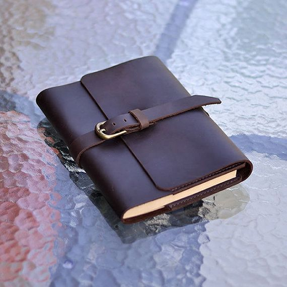 Refillable Leather Journal, Vintage Buckle, Blank Notebook, Sketchbook, Diary, Customizable Journal, Classic, Brown, A5 Cover, With Gift Box...
