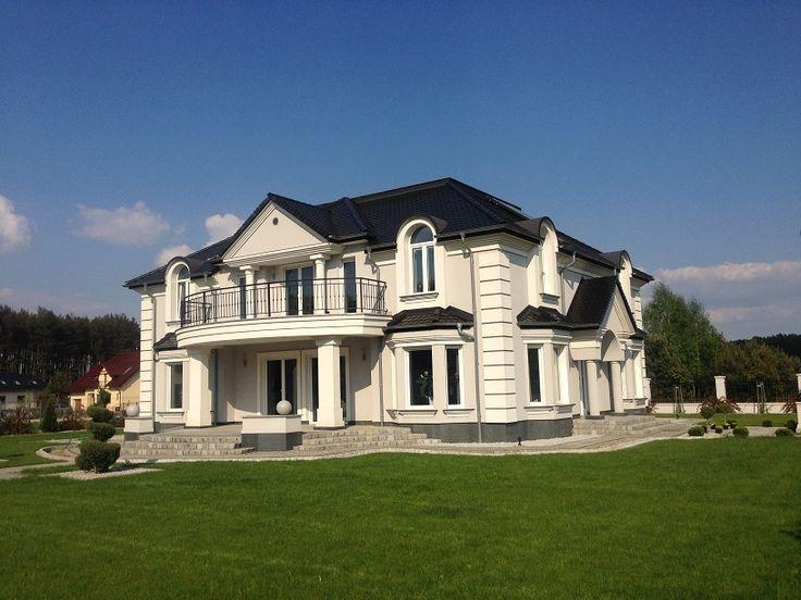 Widok domu od strony ogrodu  #ogród #dom #budowa