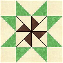 Block of Day for November 14, 2016 - Martha's Star-strip piecing-The pattern may be downloaded until: Wednesday, November 30, 2016.