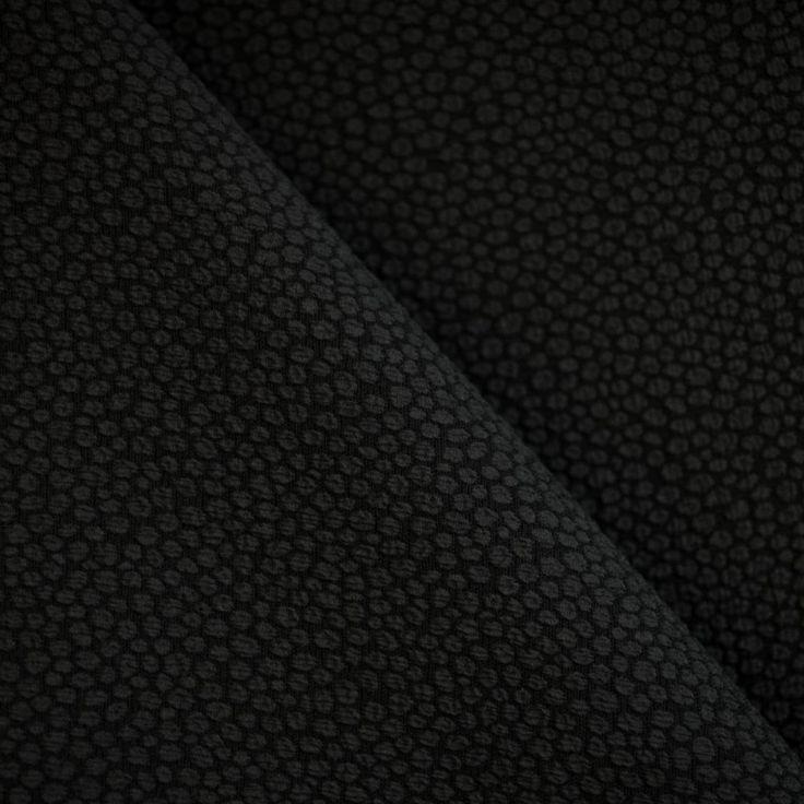 TISSU JACQUARD BLACK WILD x 10 CM