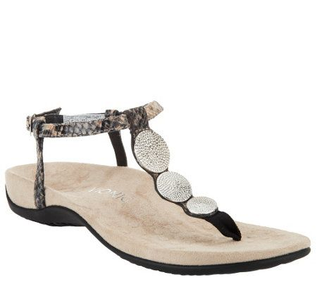 vionic orthotic t sandals w ankle lizbeth