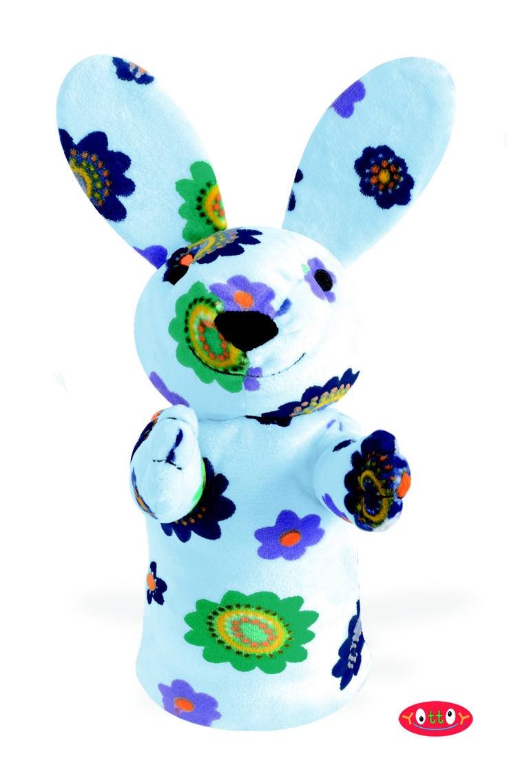 "Romeo Rabbit Puppet 11""  Made of soft velour with embroidery details!  Item #92728  $20.00"