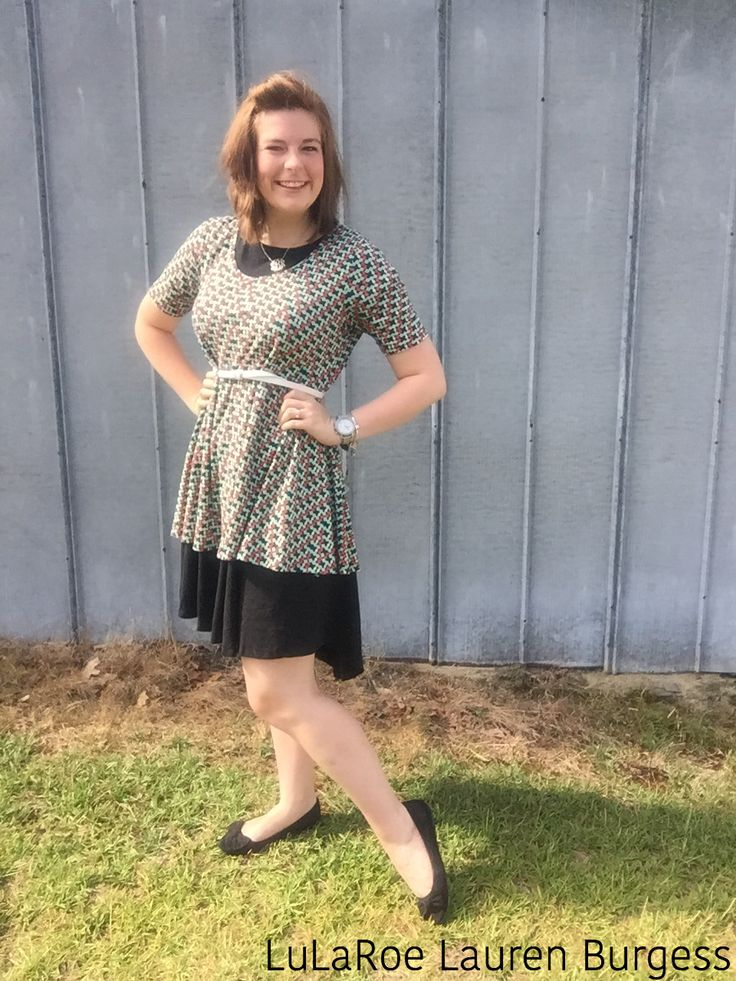 Have you tried layering a Perfect Tee over a Carly dress? Pull it all together with a belt and have a fun look! All by LuLaRoe// Facebook: LuLaRoe.Lauren.Burgess