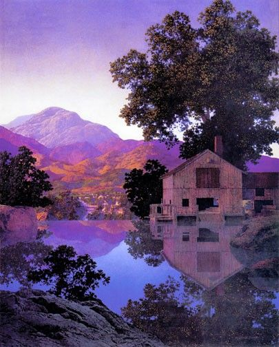"""Mill Pond"" by Maxfield Parrish"