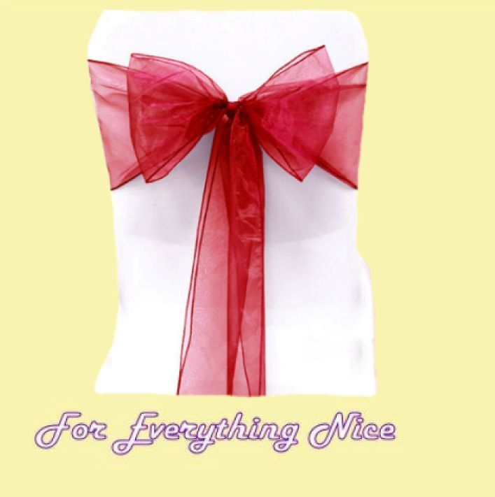 For Everything Genealogy - Dark Red Organza Wedding Chair Sash Ribbon Bow Decorations x 100, $235.00 (http://foreverythinggenealogy.mybigcommerce.com/dark-red-organza-wedding-chair-sash-ribbon-bow-decorations-x-100/)