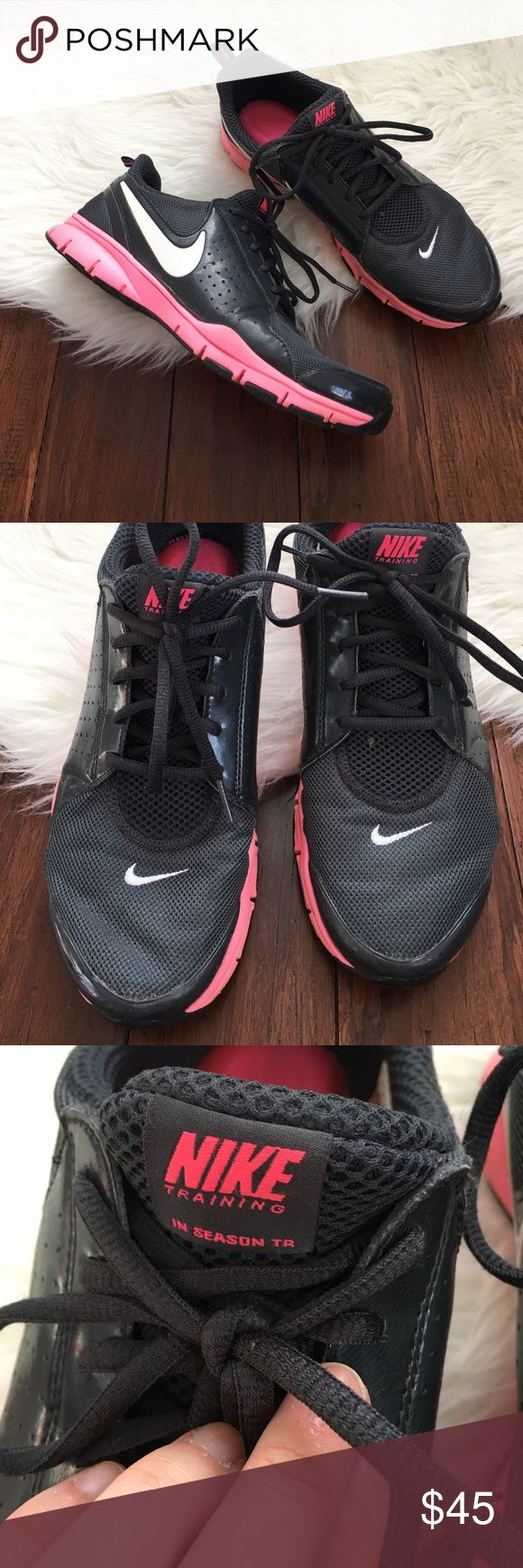Nike In Season TR Memory Foam Sneakers Excellent used condition. Wear is shown in the photos, which is very minimal. Extremely comfortable, flexible, lightweight and perfect for running! Features memory foam insoles. Plenty of life left in them! Nike Shoes Athletic Shoes
