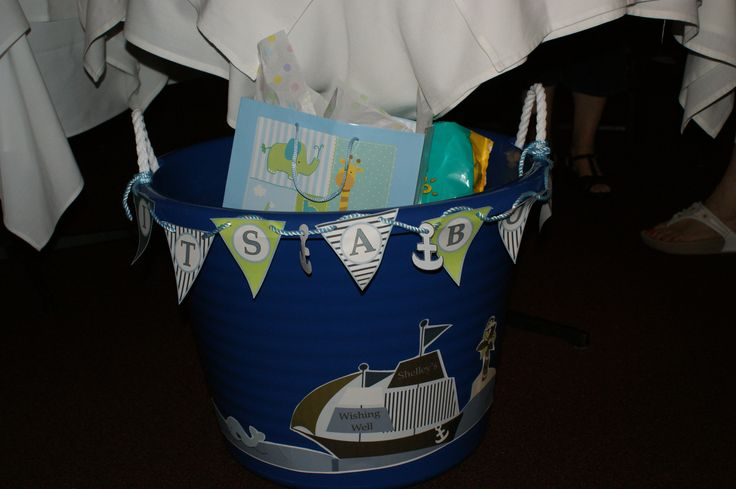 nautical theme baby shower wishing well baby shower ideas