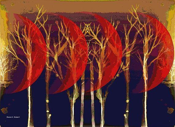 Many Moons Ago Mixed Media Painting Native by GrayWolfGallery