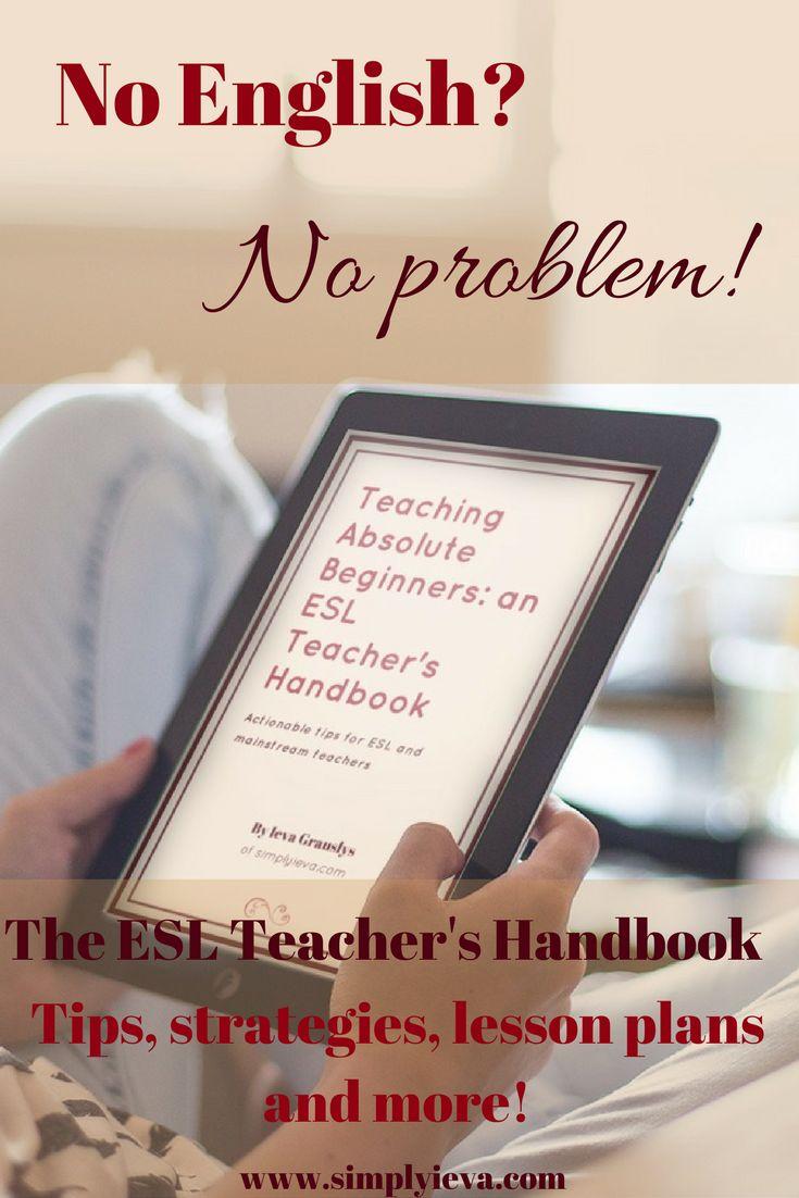 Beginner ESL tips, strategies and resources. Elementary ESL, middle school ESL, high school ESL. #esl #ell #teaching #education #english
