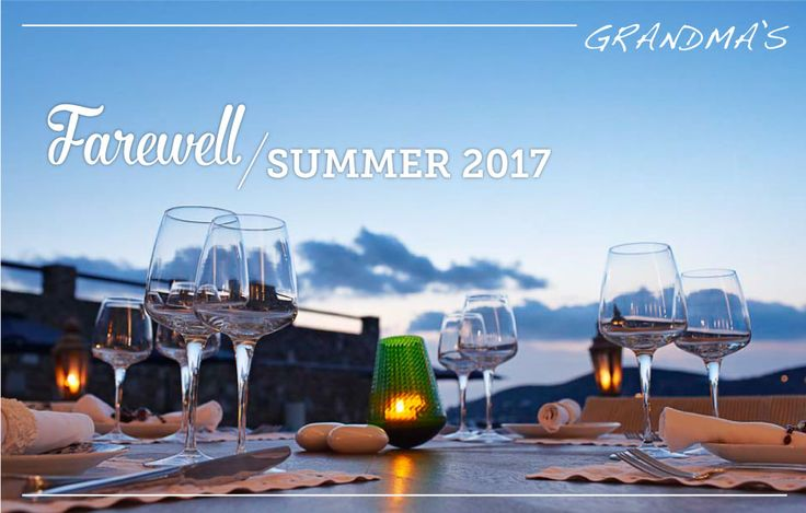Like all good things, so has this summer season come to an end. Thank you all for making 2017 so special. See you next year!
