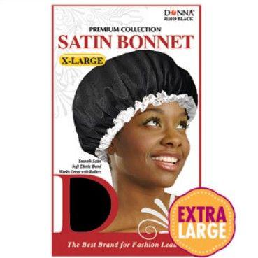 Donna Premium Collection Satin Bonnet X-Large - Black #11019  $1.79   Visit www.BarberSalon.com One stop shopping for Professional Barber Supplies, Salon Supplies, Hair & Wigs, Professional Product. GUARANTEE LOW PRICES!!! #barbersupply #barbersupplies #salonsupply #salonsupplies #beautysupply #beautysupplies #barber #salon #hair #wig #deals #sales #Donna #Premium #Collection #Satin #Bonnet #XLarge #Black #11019