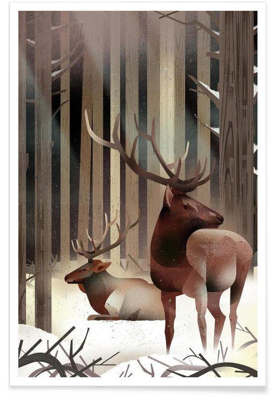 Wapiti as Premium Poster by Dieter Braun | JUNIQE