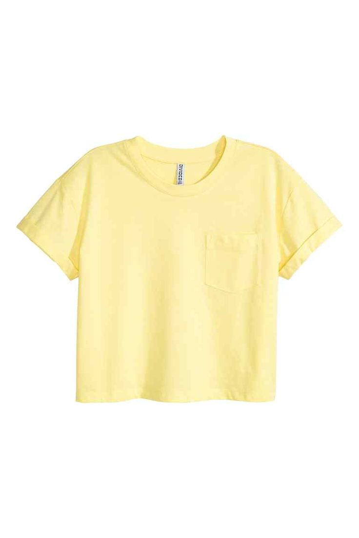Cropped T-shirt - Light yellow - Ladies | H&M