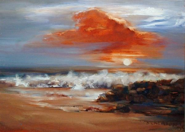 'Early morning sunrise over the Indian ocean' by Marlene Dickerson