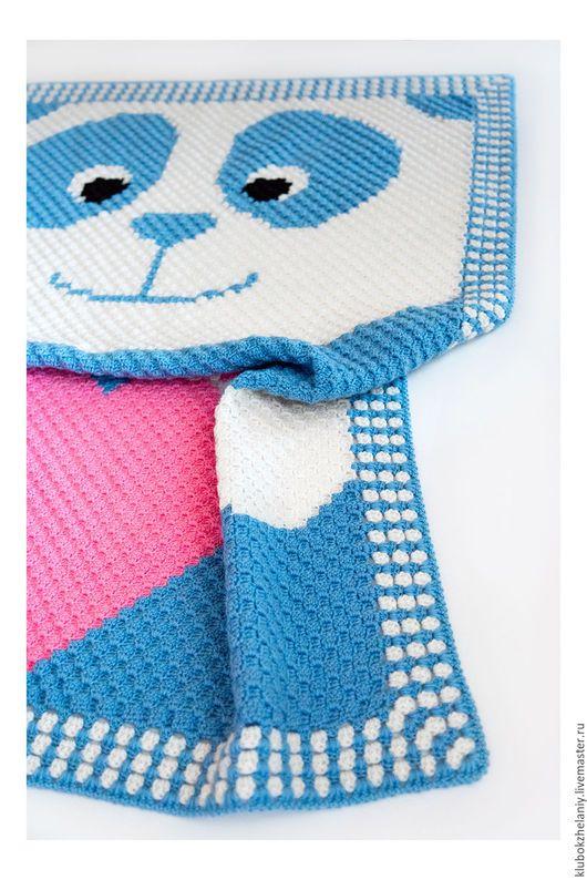 Crochet baby blanket Baby boy crochet blanket c2c blanket Baby blanket Panda Baby blanket bear Blanket nursery Knitted blanket Summer plaid