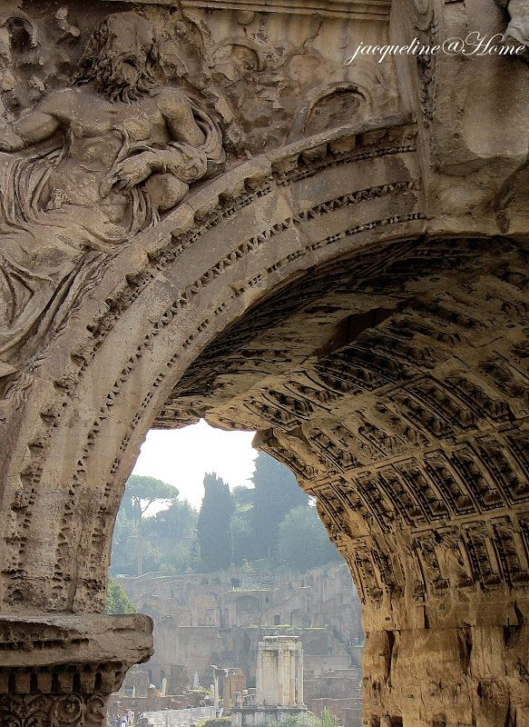 The ruins of Rome through the Arch of Constantine. The ruins were one of  my favorite parts of Rome.