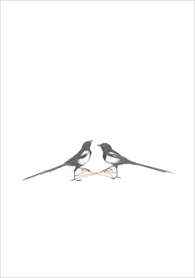 two magpies by rachel goodyear