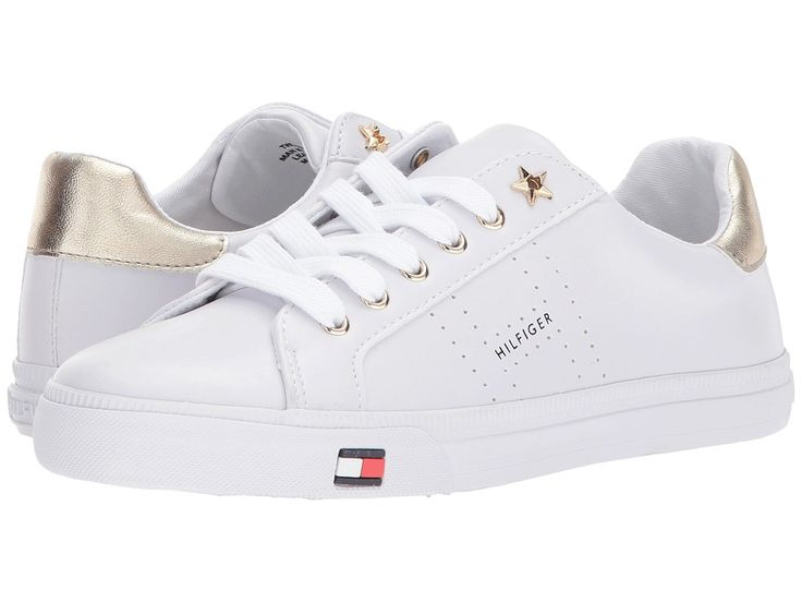 TOMMY HILFIGER TOMMY HILFIGER - LUSTERY (WHITE/GOLD) WOMEN'S SHOES. #tommyhilfiger #shoes #