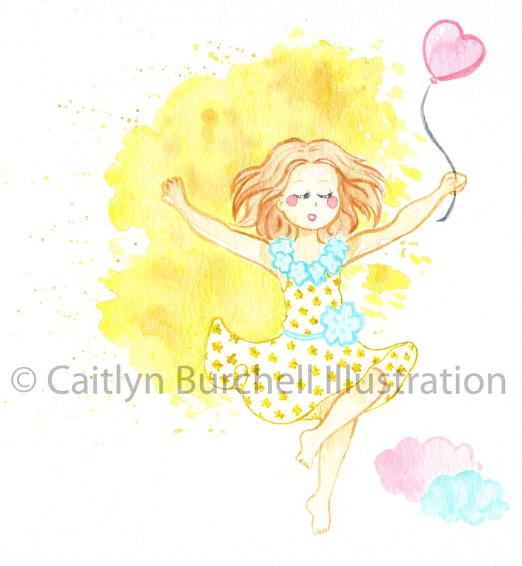 Fly, my darling. Art prints by Caitlyn Burchell Illustration perfect for a little girl's room!