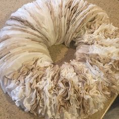 Coffee filter wreath tutorial.