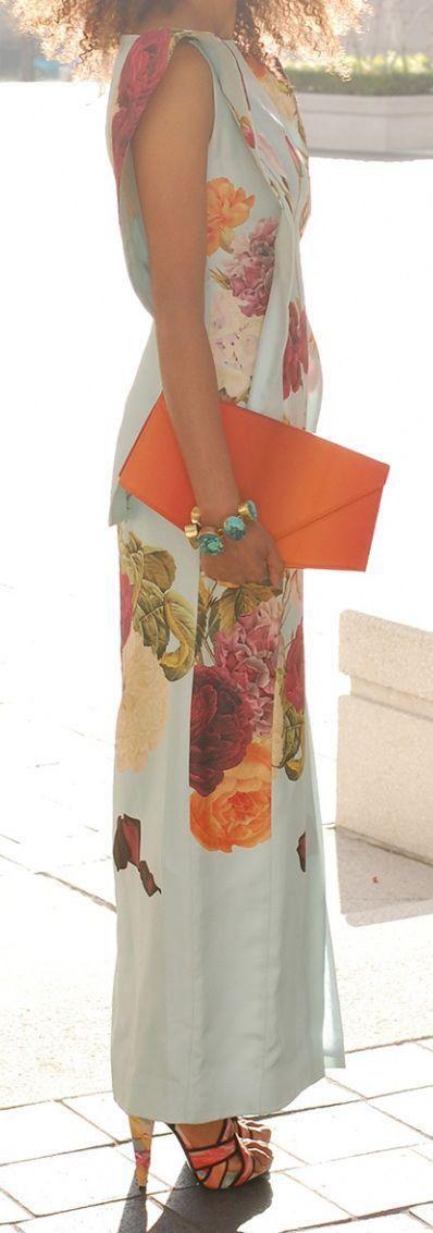 Florals + tangerine