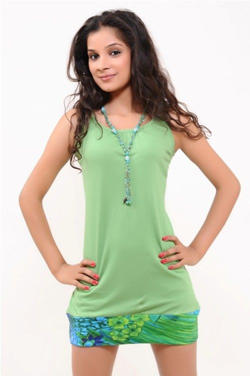 A Beautiful Fern Green Long Top
