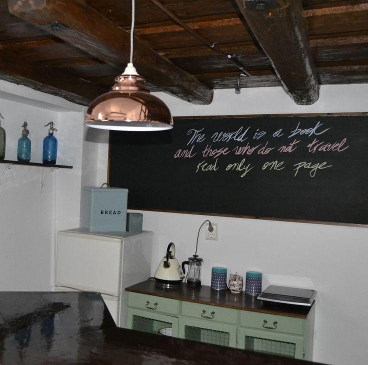 Painted cupboard in breakfast room green @ Felinarul Residence