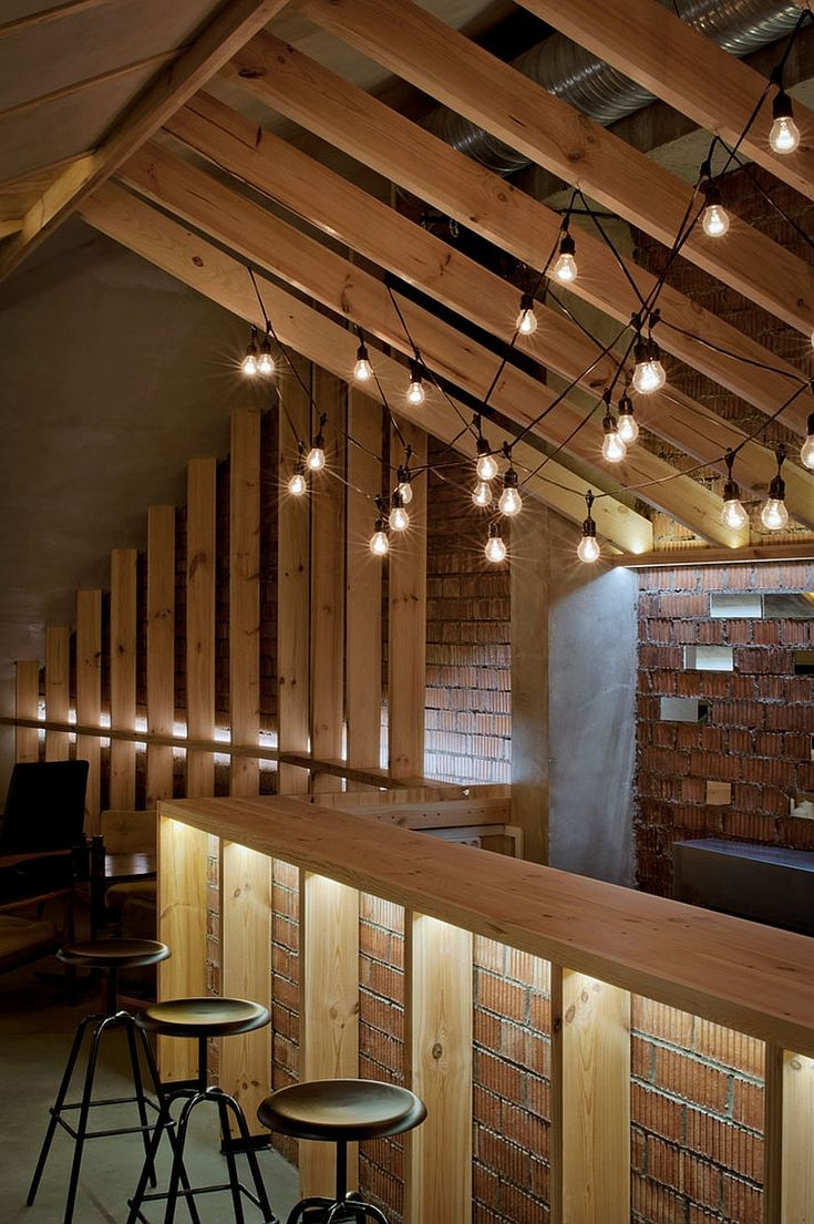 attic lighting ideas. Ravishing ATTIC Bar Blends Rustic Textures With Contemporary Design Attic Lighting Ideas I