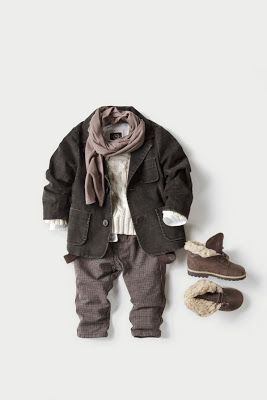 vintage pretty: Cutest Baby Clothes! Now how to get him to wear a scarf...