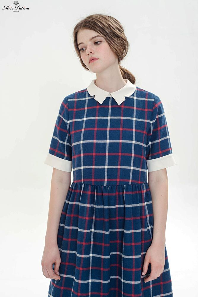 Head Girl Dress (Blue) - Miss Patina - Vintage Inspired Fashion