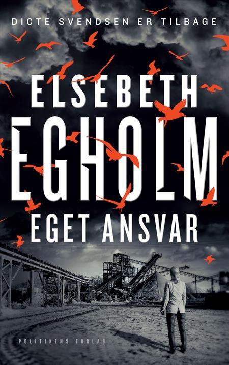 """En flygtningeadvokat findes dræbt i sit hus, Dictes datter Rose og dennes kusine Anne Marie bliver kidnappet af to hætteklædte mænd i en hvid varevogn, et ungt par finder en afsavet hånd i Trige skov som stammer fra en afrikansk kvinde og senere finder man andre lig rester. Politimanden John Wagner og Ditte kaster sig ud i at finde sammenhængen. """"Eget ansvar"""" af Elsebeth Egholm er en krimi om den kendte, fiktive journalist Dicte Svendsen."""
