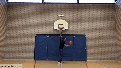 Basketball Trick Shot | Gif Finder – Find and Share funny animated gifs