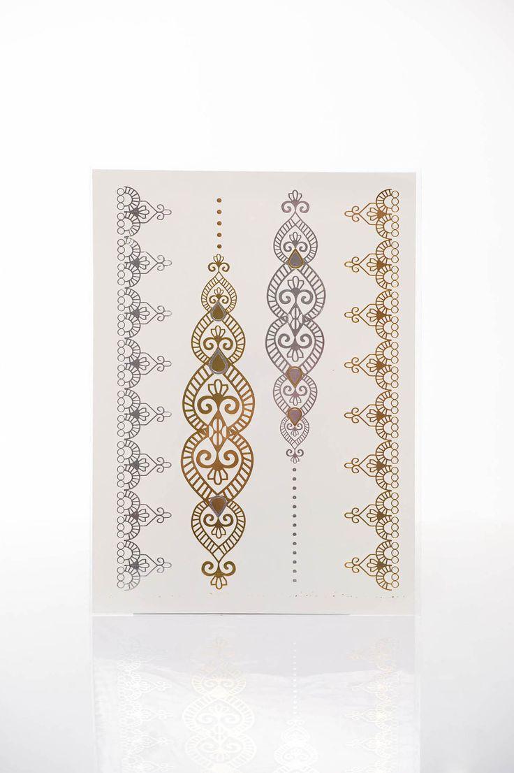 Tatuaj Metalic Seductive Gold. Tatuaj metalic temporar, in diverse culori, usor de aplicat.