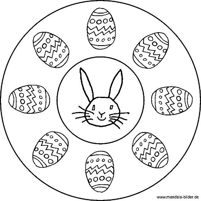 mandala  ostereier  ausmalbilder ostern ausmalbilder