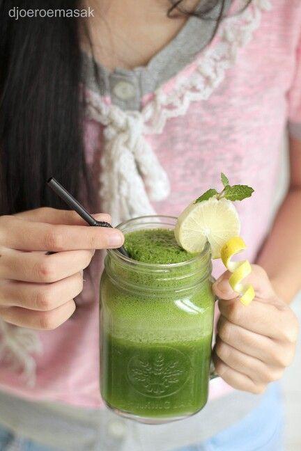 Healthy Green! Juice segar dari Djoeroemasak Resto yang membuat kamu sehat dan segar untuk menjlani hari kamu Good People!